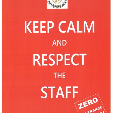 POLITE NOTICE – Please respect our staff