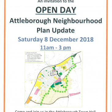 ATTLEBOROUGH NEIGHBOURHOOD PLAN UPDATE – OPEN DAY 8 DECEMBER 2018